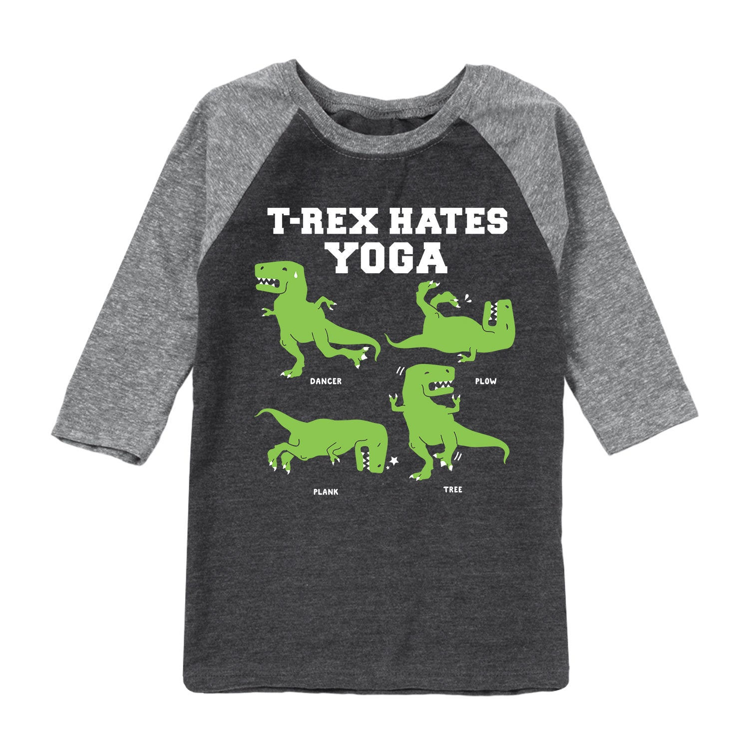 Dinosaur Yoga - Toddler Raglan