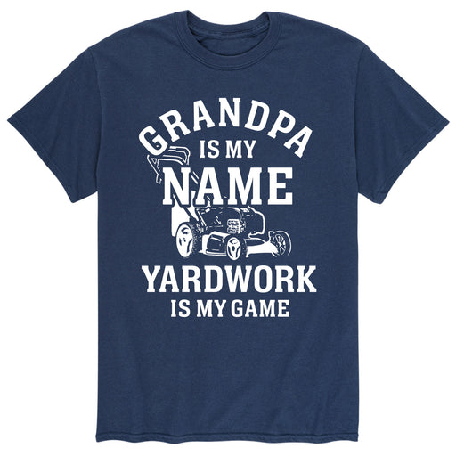 Grandpa Name Yard Work Game - Men's Short Sleeve T-Shirt