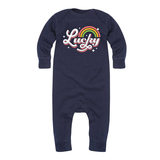 Retro Lucky Rainbow - Infant Long Sleeve One Piece