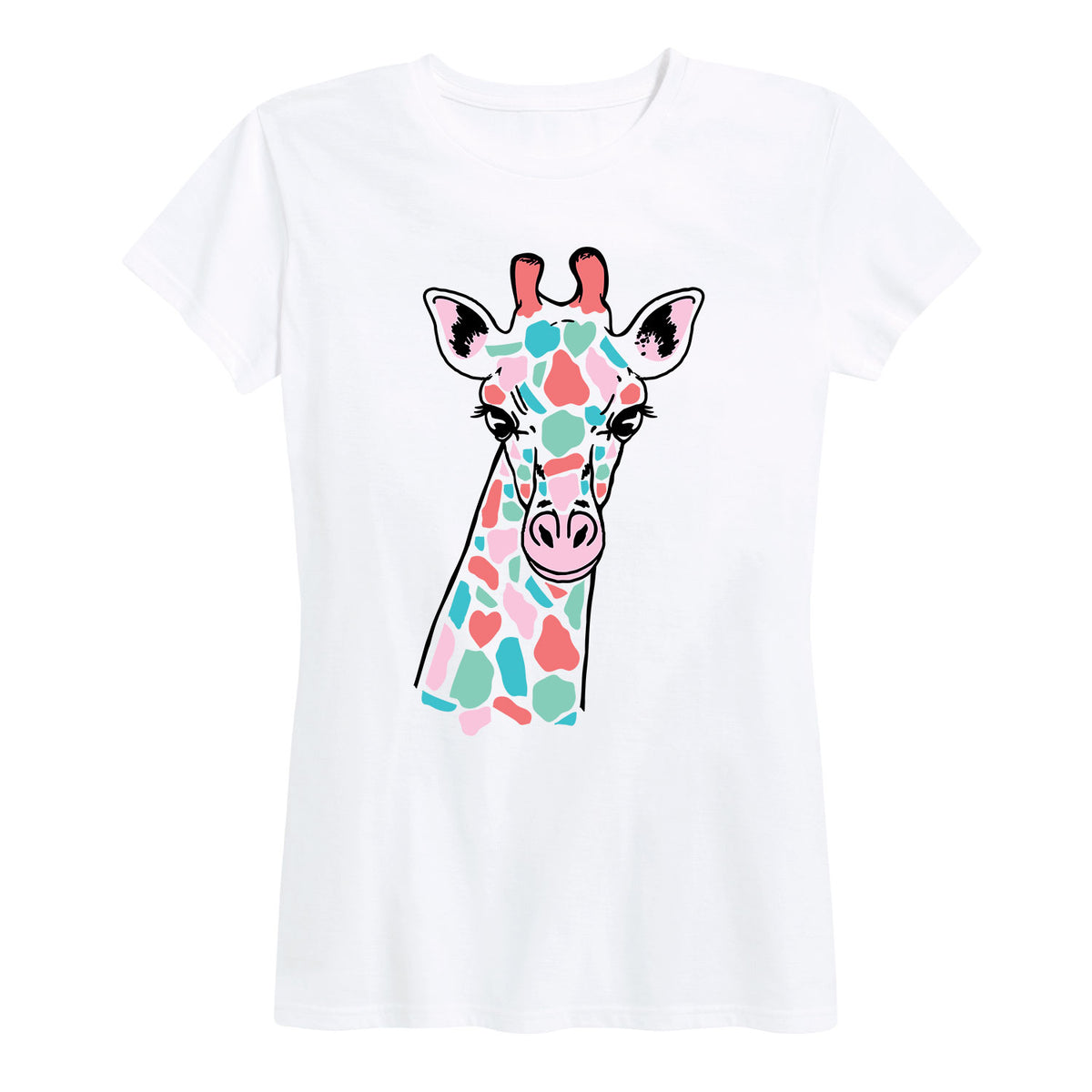 Colorful Giraffe - Women's Short Sleeve T-Shirt
