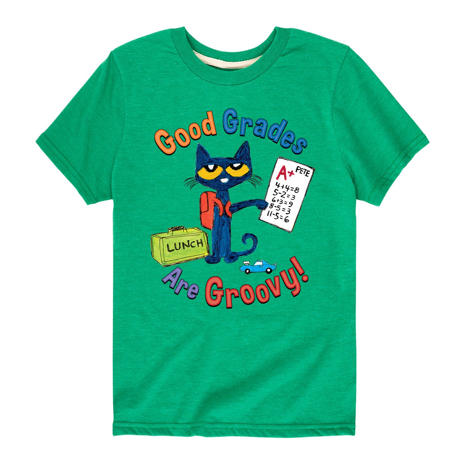 Pete The Cat Good Grades Are Groovy - Toddler Short Sleeve T-Shirt