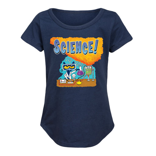 Pete The Cat Science - Toddler Girl Short Sleeve T-Shirt