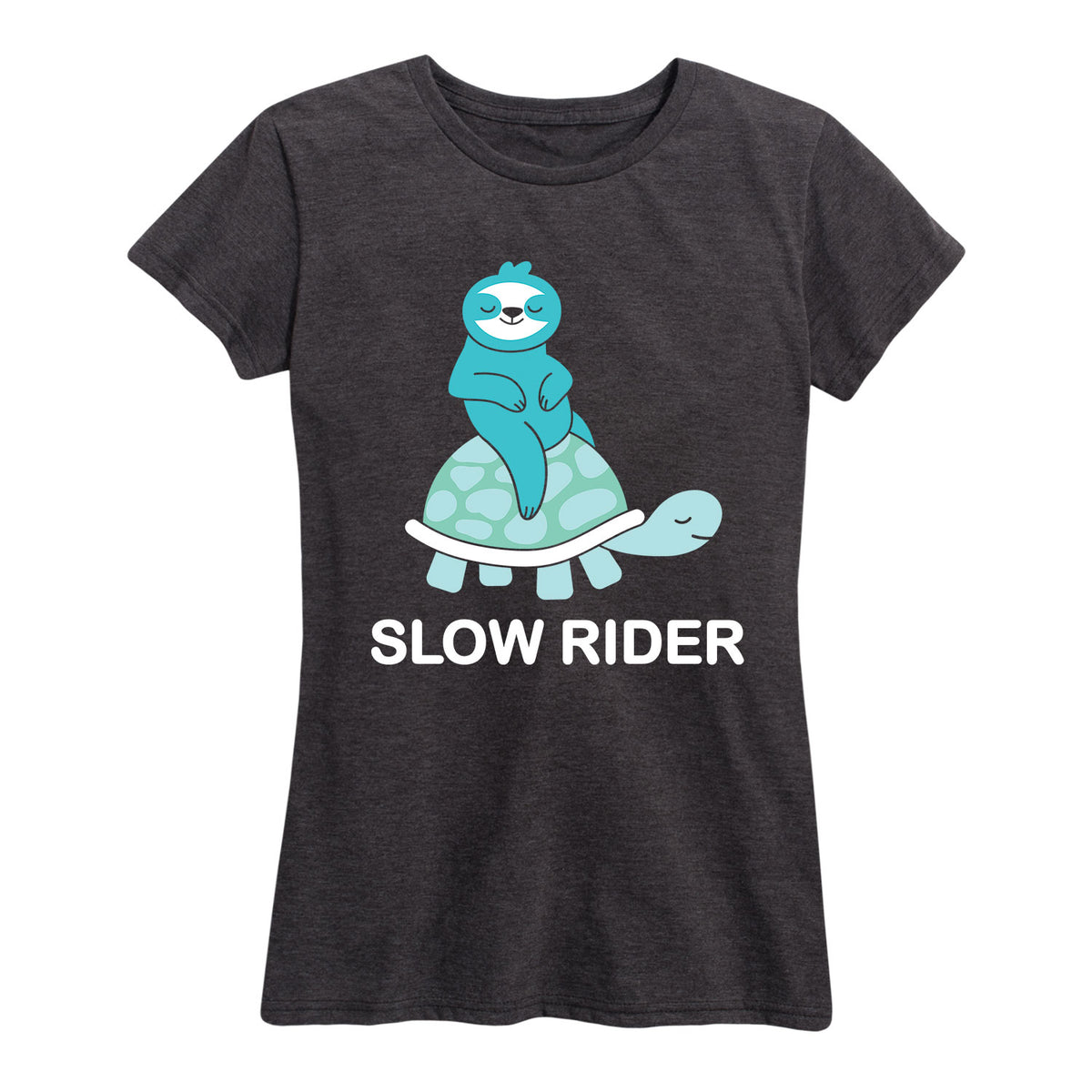 Slow Rider Sloth And Turtle - Women's Short Sleeve T-Shirt