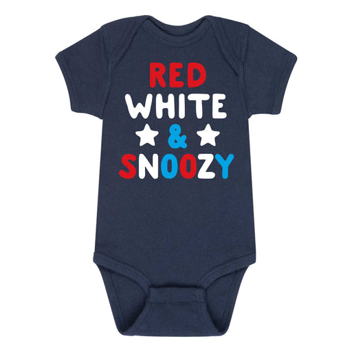Red White Snoozy - Infant One Piece