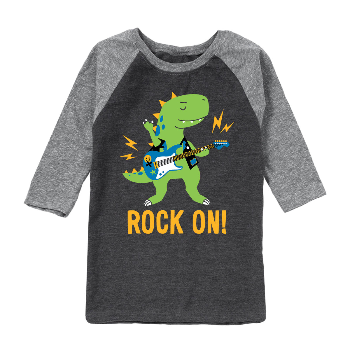 Rock On Dinosaur - Toddler Raglan