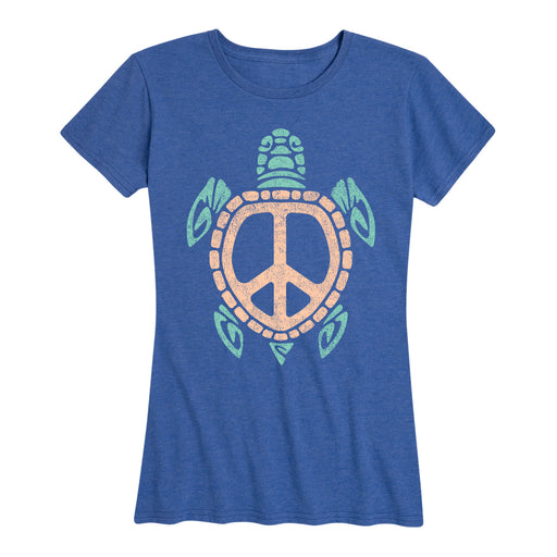 Peace Sign Sea Turtle - Women's Short Sleeve T-Shirt
