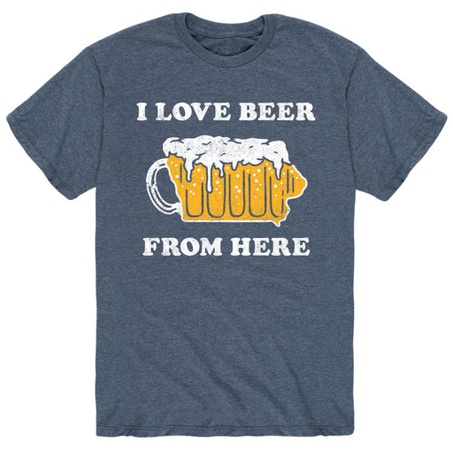 I Love Beer From Here Iowa - Men's Short Sleeve T-Shirt