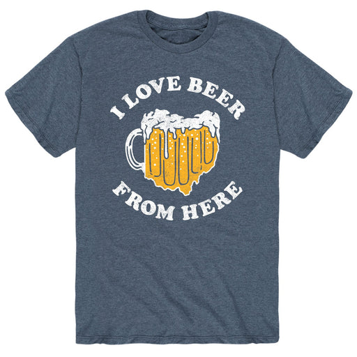I Love Beer From Here Ohio - Men's Short Sleeve T-Shirt