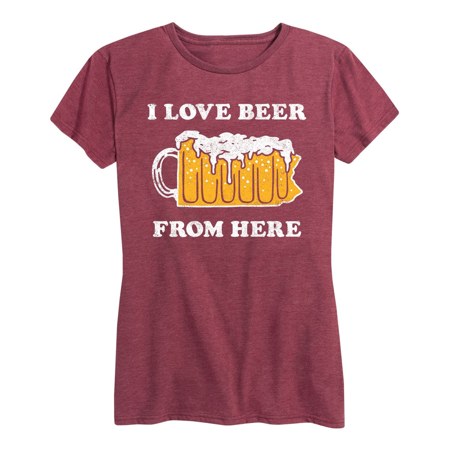 I Love Beer From Here Pennsylvania - Women's Short Sleeve T-Shirt