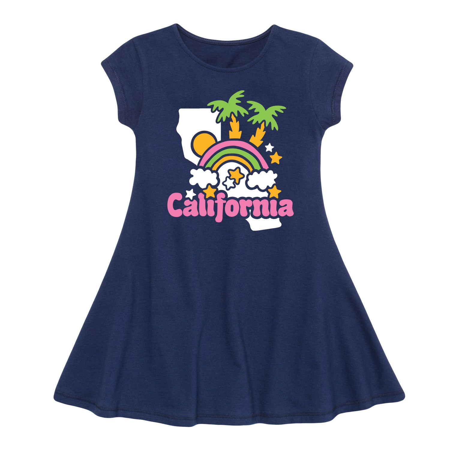 California - Youth Girl Fit And Flare Dress