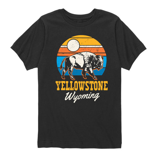 Yellowstone Bison - Youth Short Sleeve T-Shirt