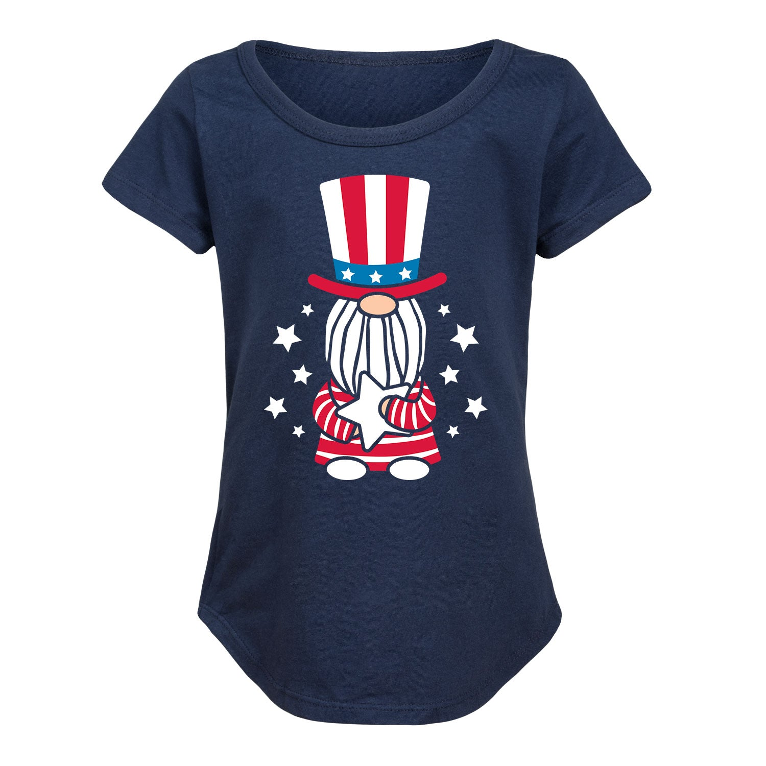 Patriotic Gnome - Youth Girl Short Sleeve T-Shirt