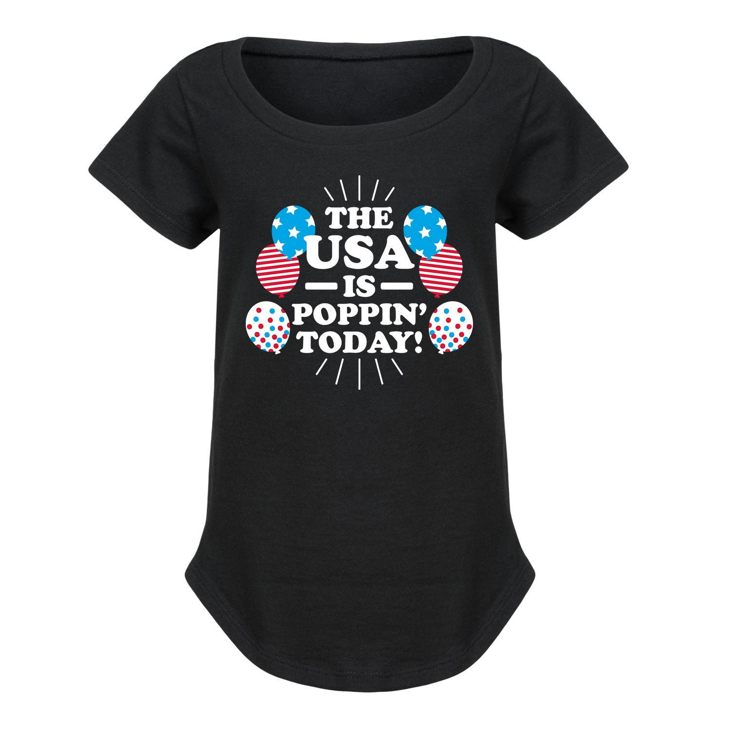 The USA Is Poppin Today - Youth Girl Short Sleeve T-Shirt