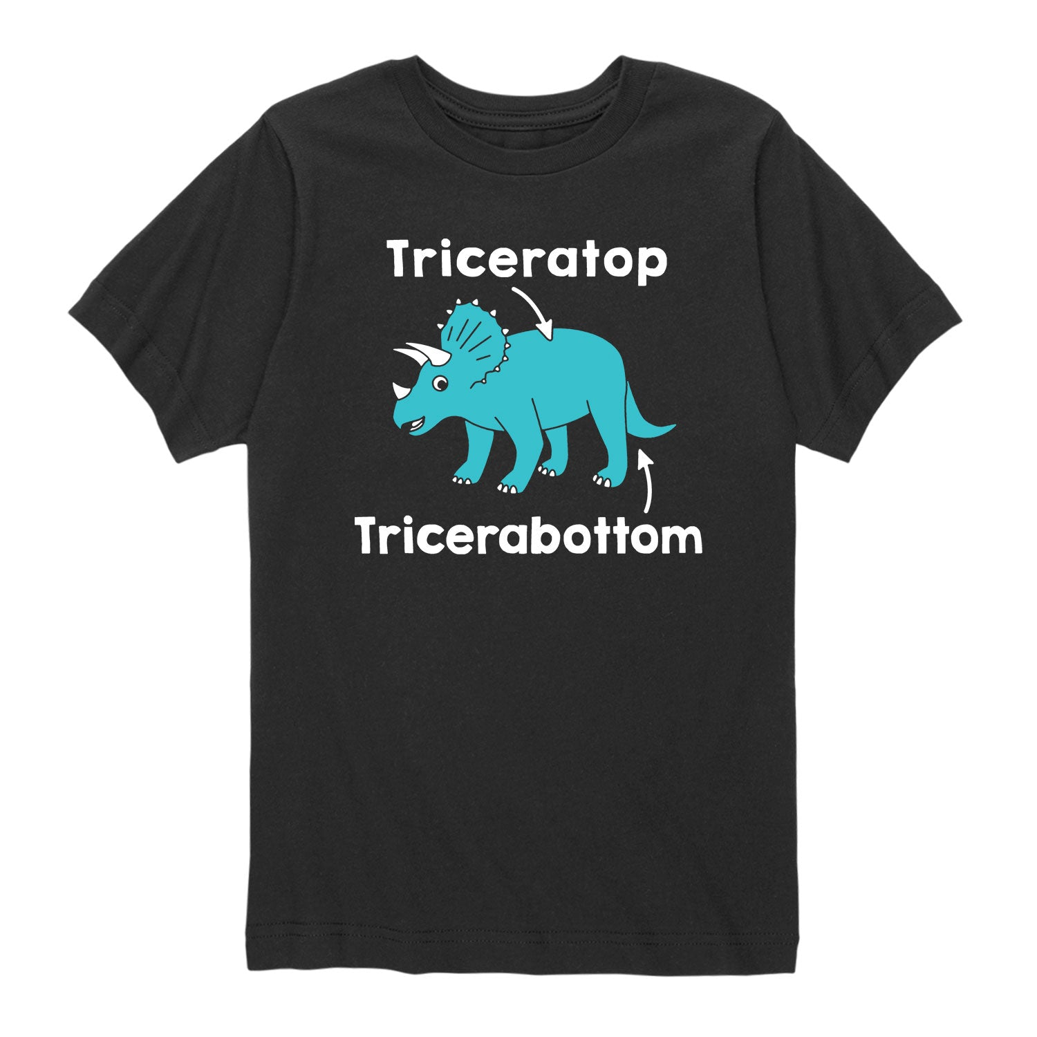 Triceratop Tricerabottom - Toddler Short Sleeve T-Shirt