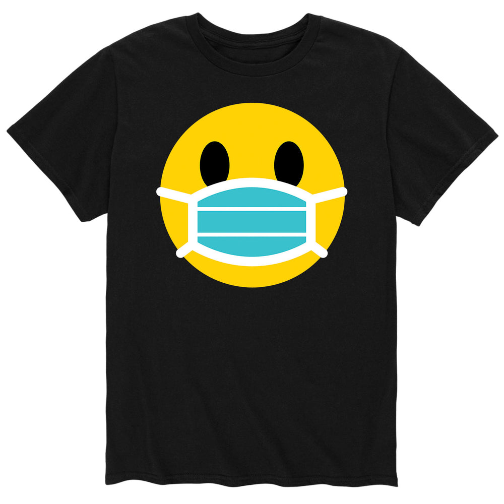 Smiley Face Surgical Mask - Men's Short Sleeve T-Shirt