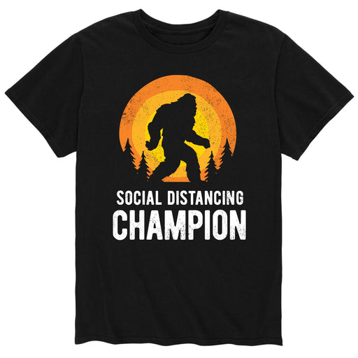 Social Distancing Champion - Men's Short Sleeve T-Shirt