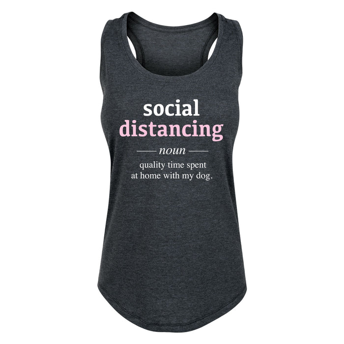 Social Distancing Definition Dog - Women's Tank