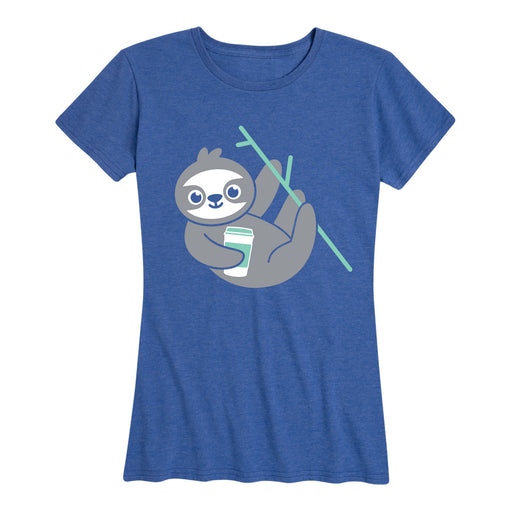 Coffee Sloth-Women's Short Sleeve T-Shirt