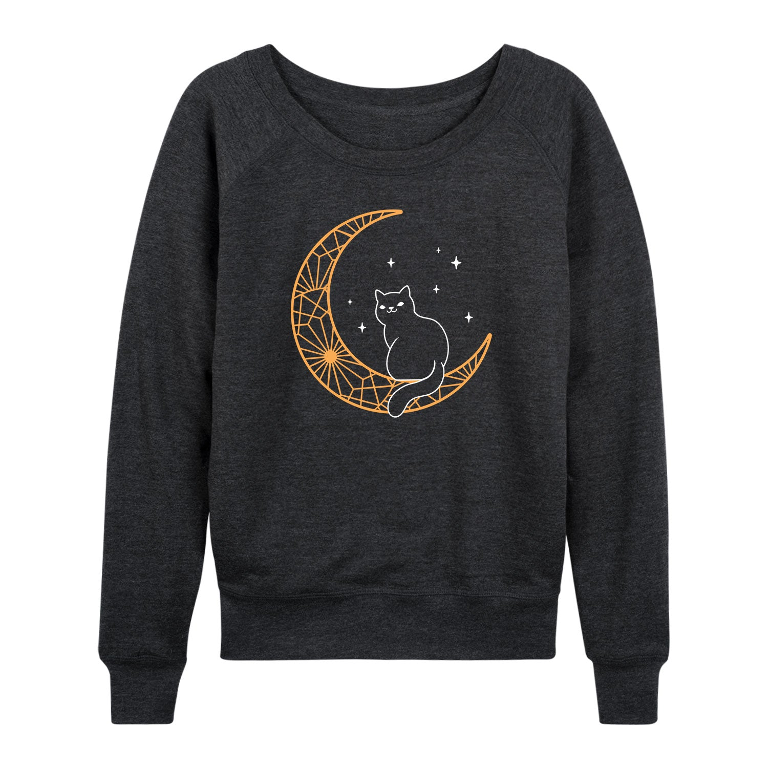 Black Cat On Mandala Moon - Women's Slouchy