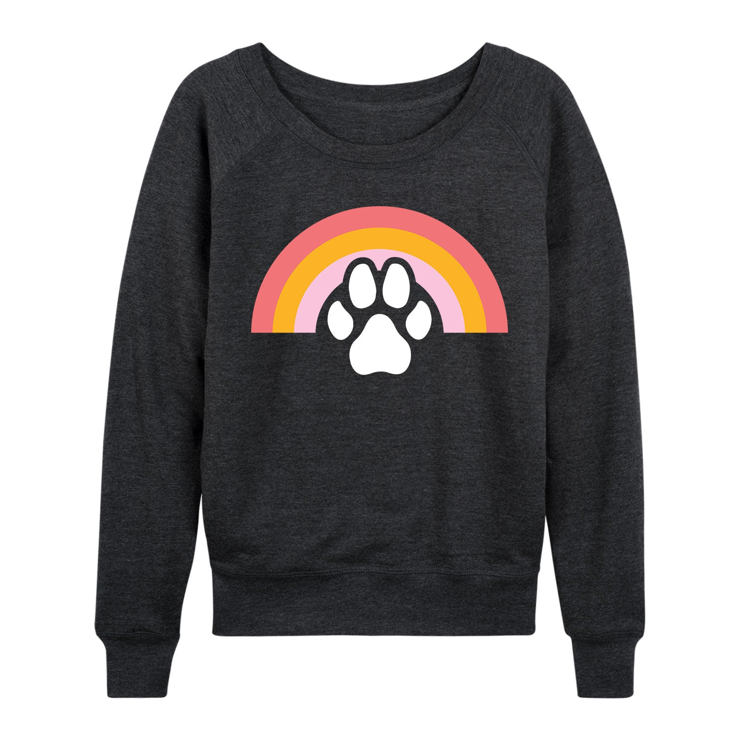 Dog Paw Rainbow-Women's Slouchy