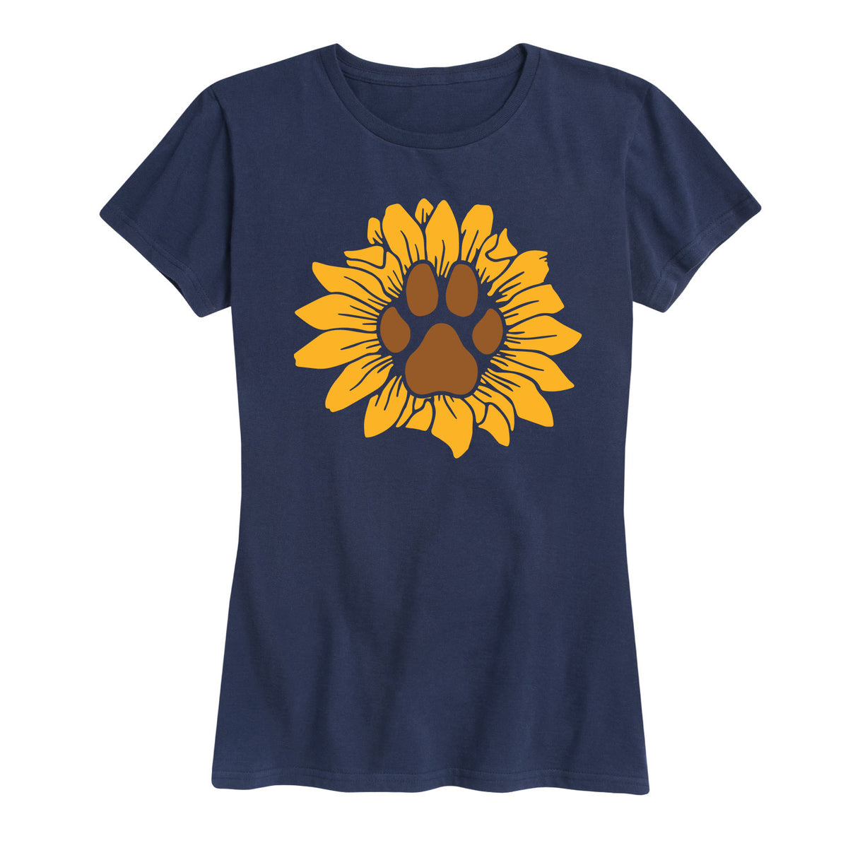 Sunflower Dog Paw-Women's Short Sleeve T-Shirt