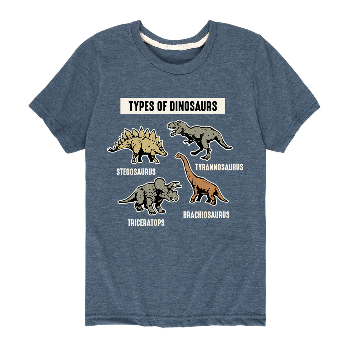 Types of Dinosaurs - Youth & Toddler Short Sleeve T-Shirt