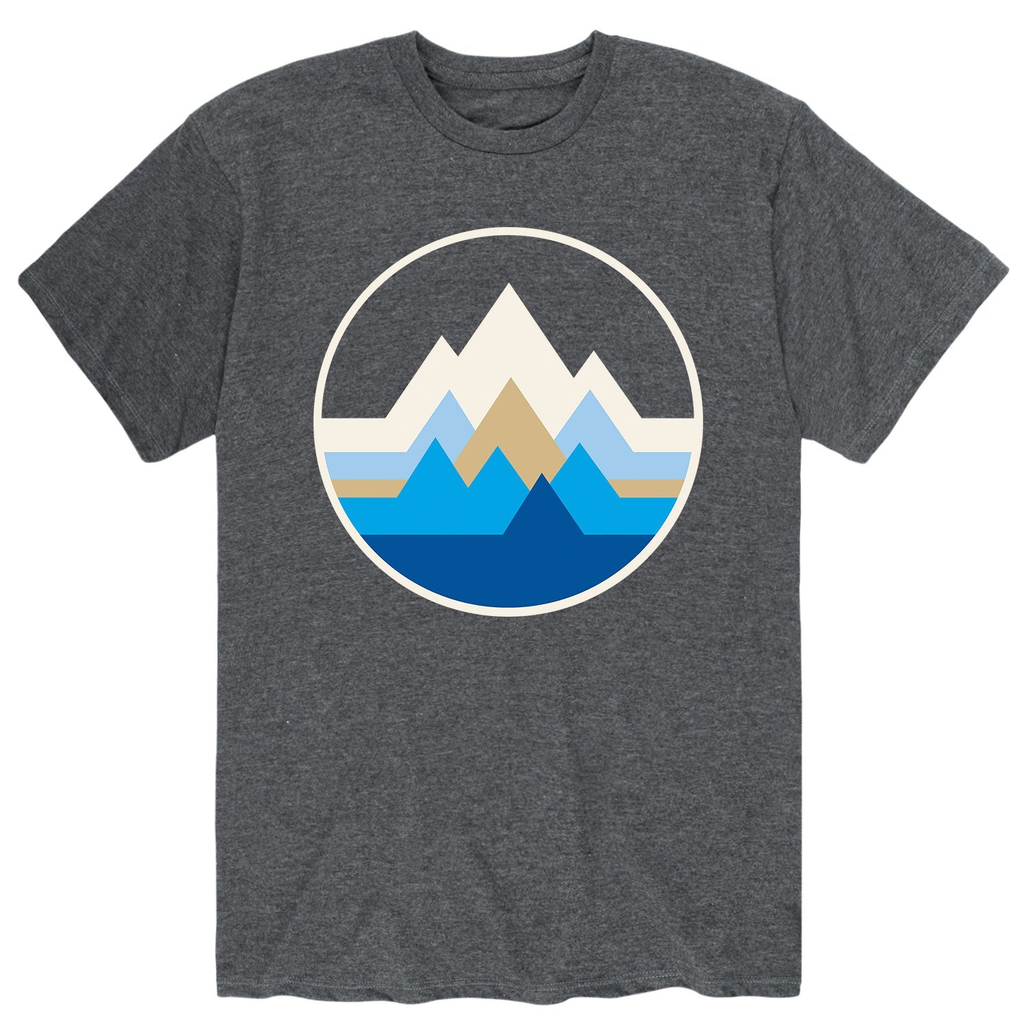 Geo Mountain Circle - Men's Short Sleeve T-Shirt