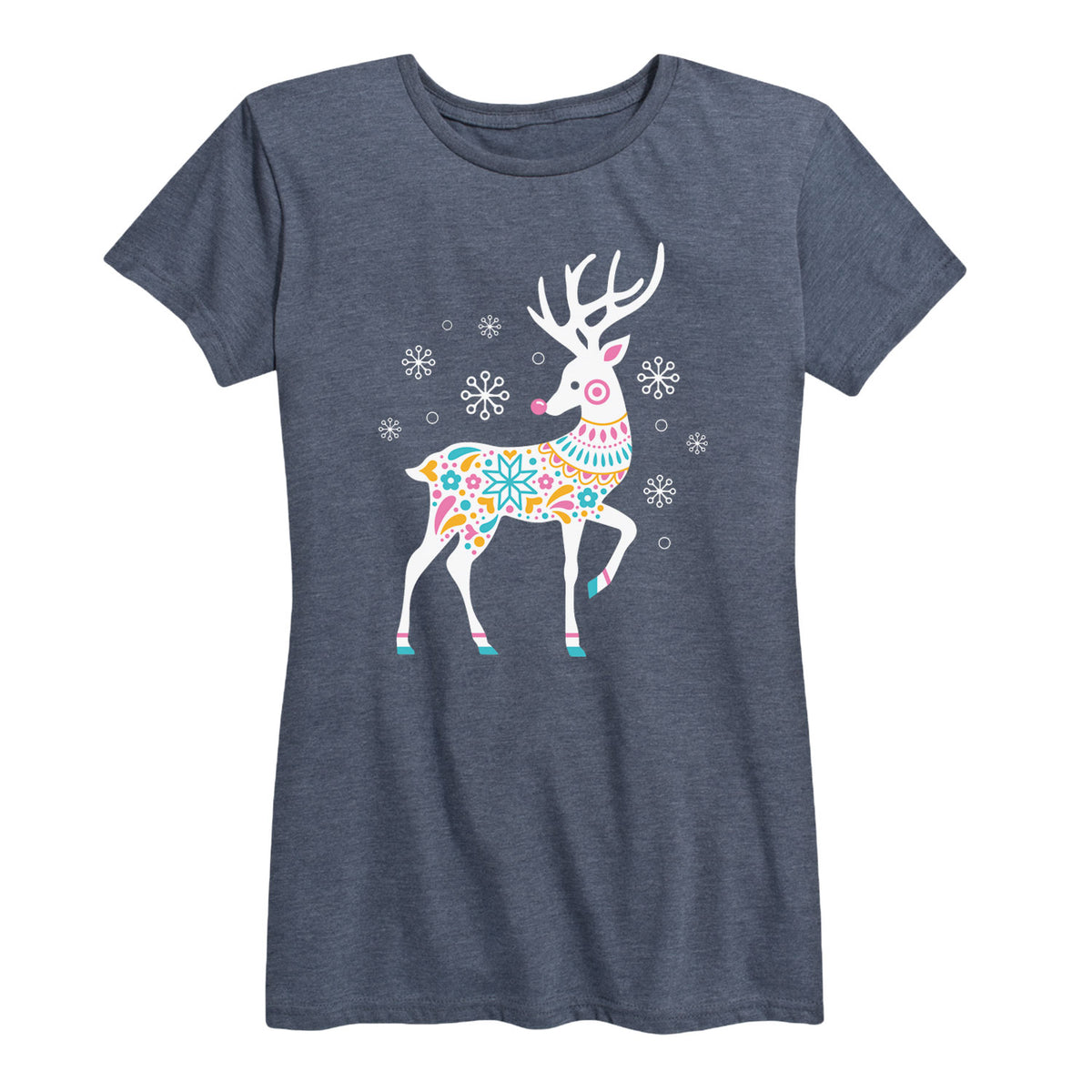Colorful Nordic Reindeer - Women's Short Sleeve T-Shirt