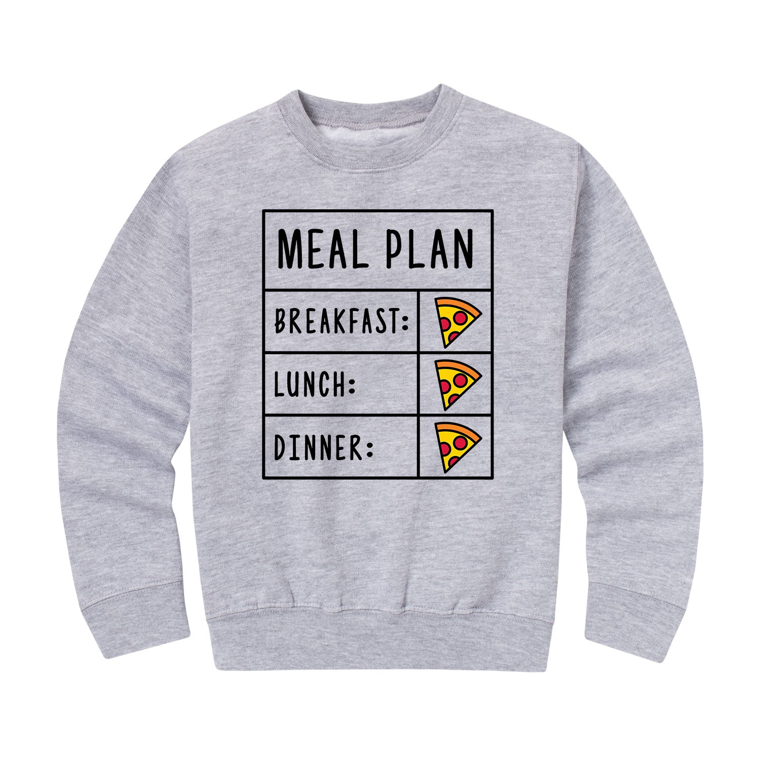 Pizza Meal Plan - Youth & Toddler Crew Neck Fleece