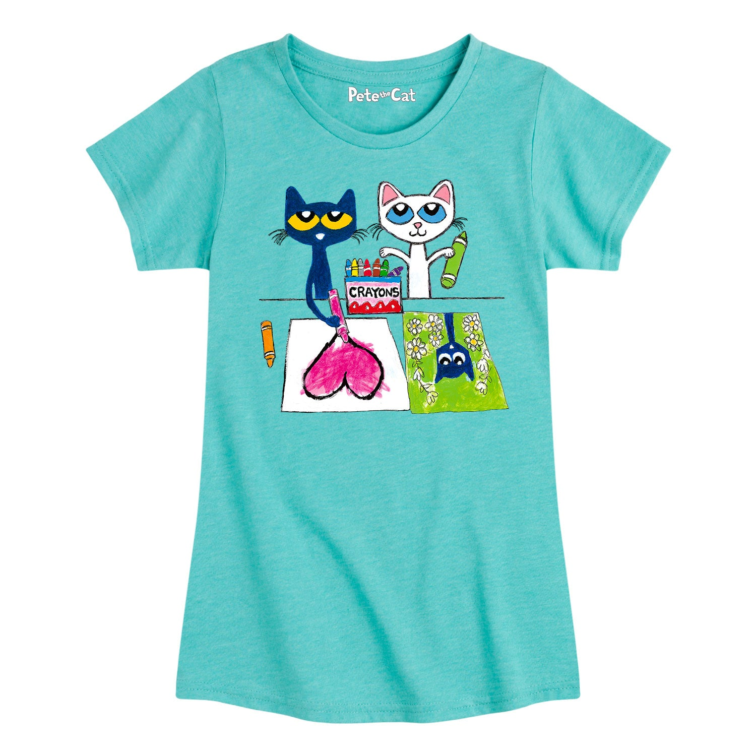 Pete And Calli Drawing - Youth & Toddler Girls Short Sleeve T-Shirt