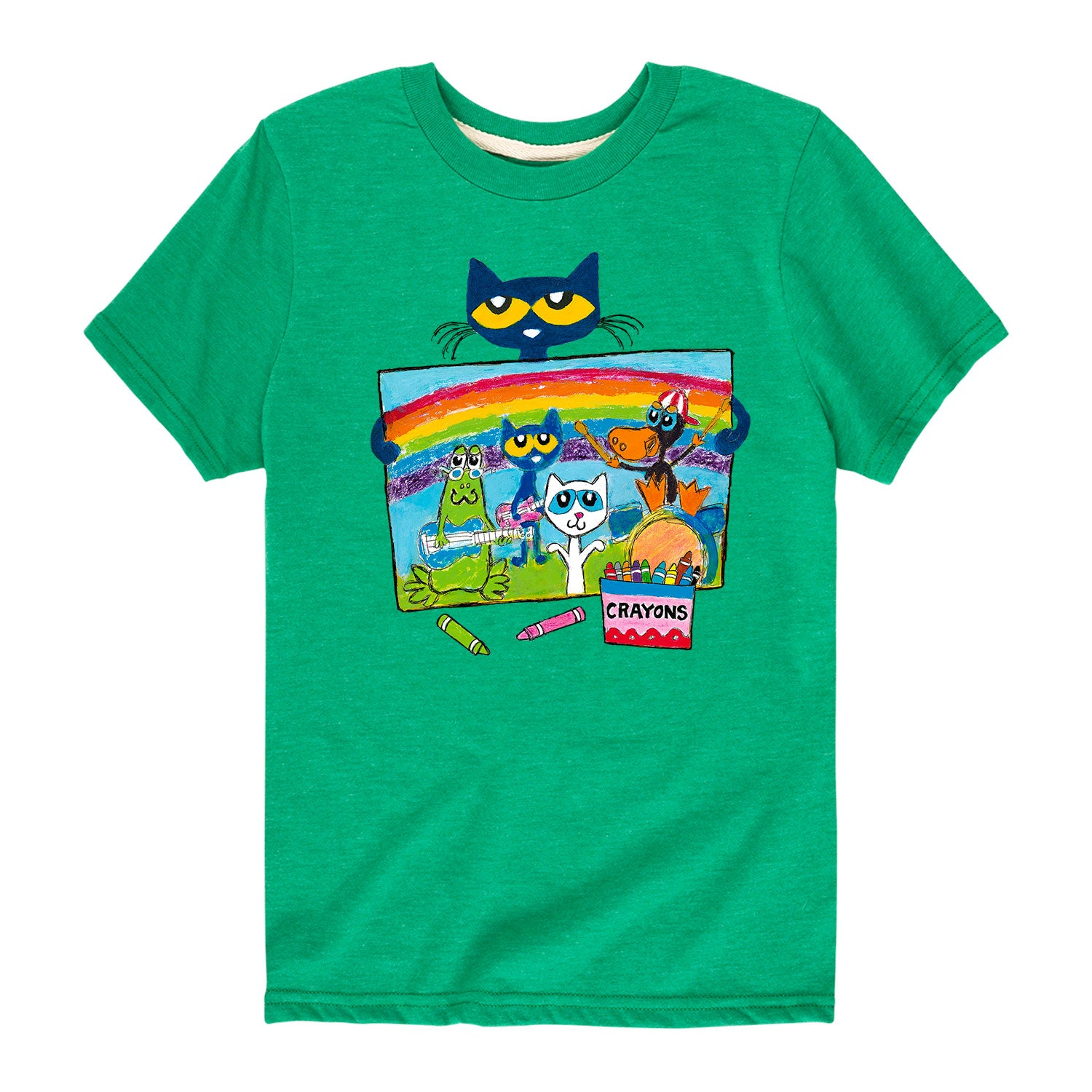 Pete Crayon Drawing - Youth & Toddler Short Sleeve T-Shirt