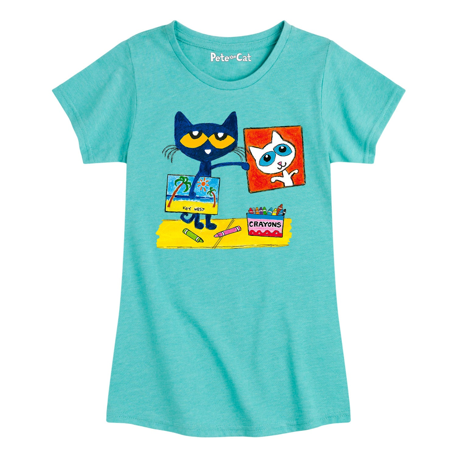 Pete Crayon Drawings - Youth & Toddler Girls Short Sleeve T-Shirt