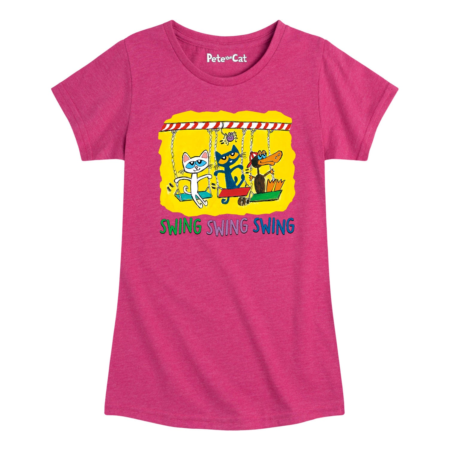 Swing Time - Youth & Toddler Girls Short Sleeve T-Shirt
