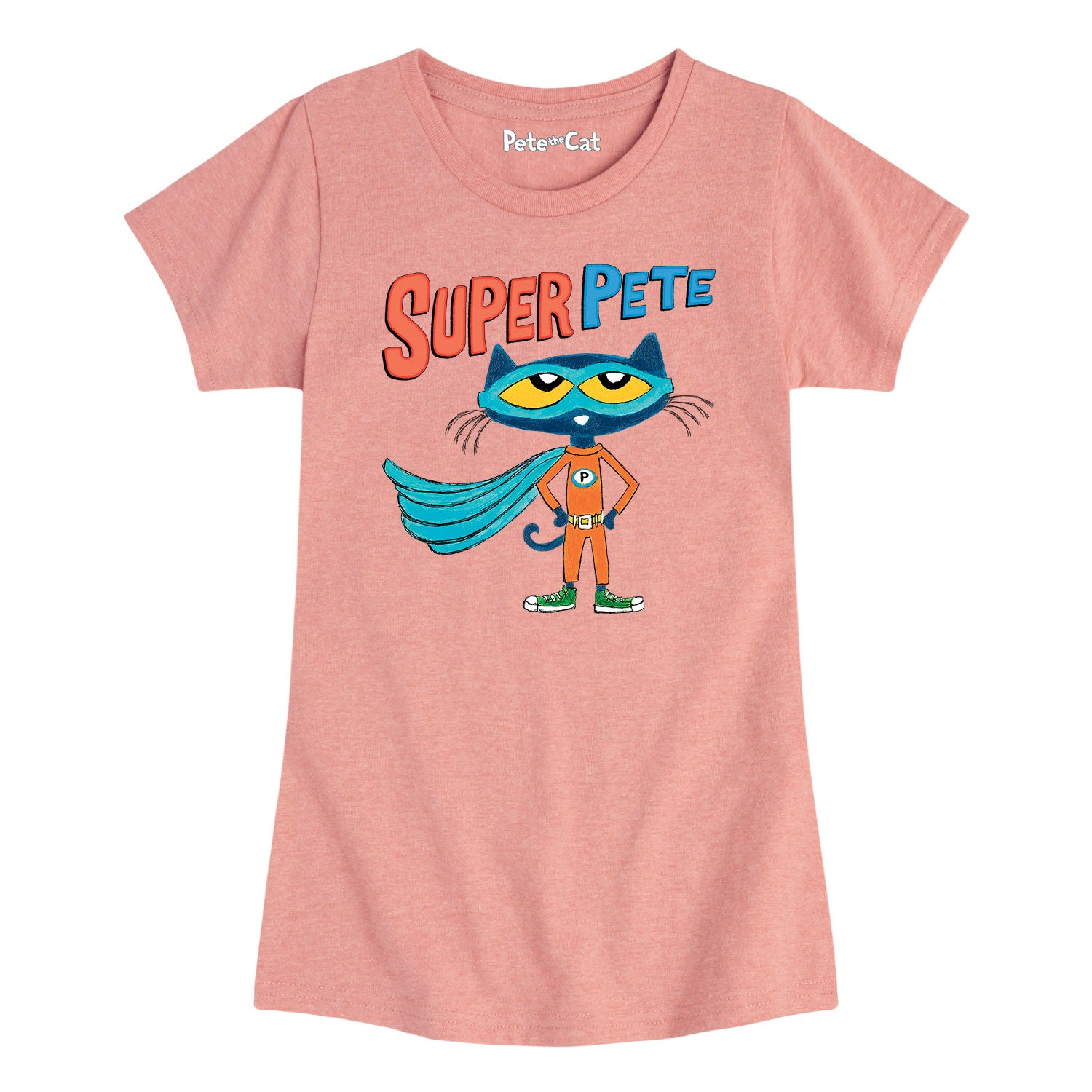 Super Pete With Cape - Youth & Toddler Girls Short Sleeve T-Shirt