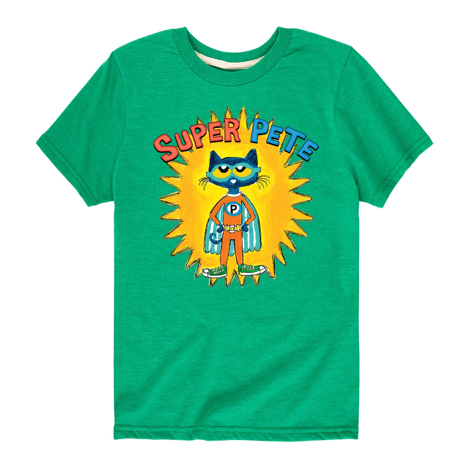 Super Pete With Yellow Burst - Youth & Toddler Short Sleeve T-Shirt