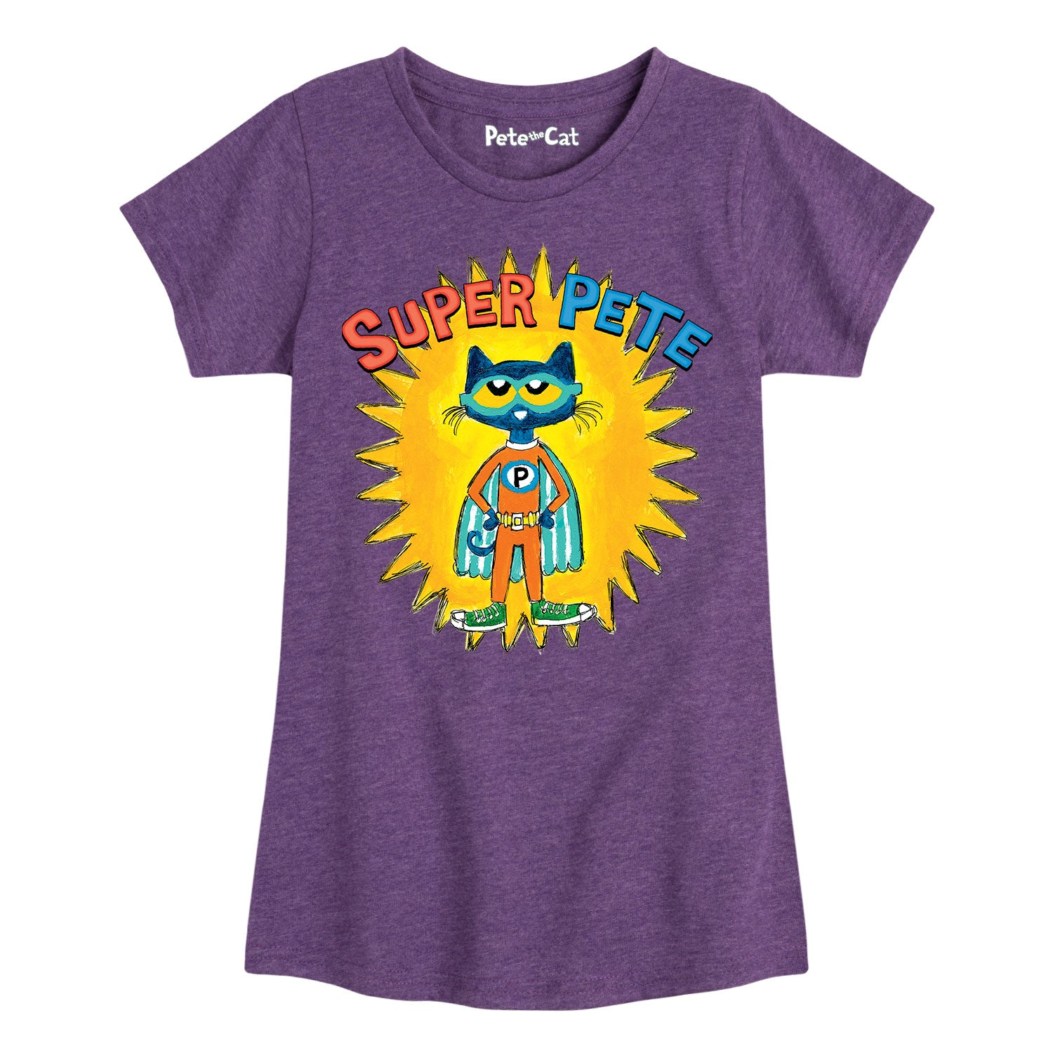 Super Pete With Yellow Burst - Youth & Toddler Girls Short Sleeve T-Shirt