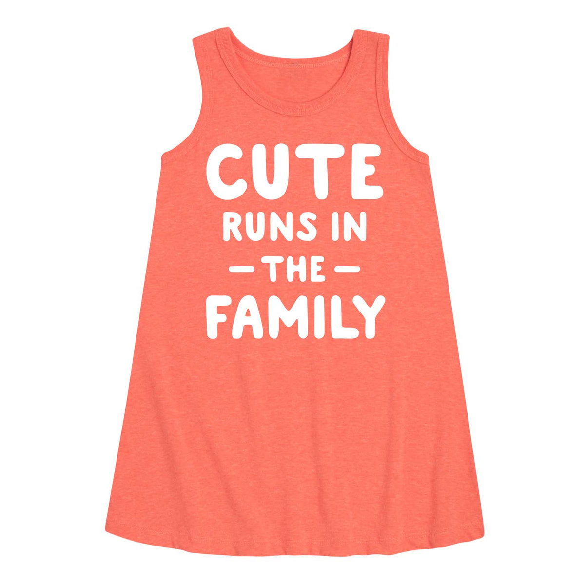 Cute Runs In The Family - Youth & Toddler A-Line Dress
