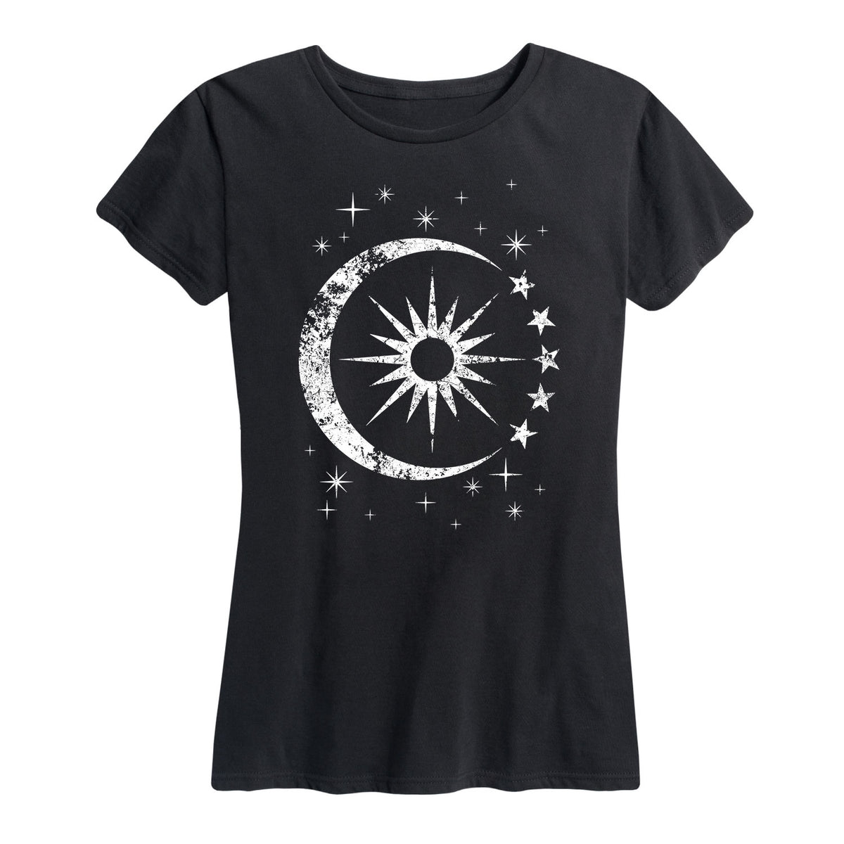 Celestial Sun Moon Scene - Women's Short Sleeve T-Shirt