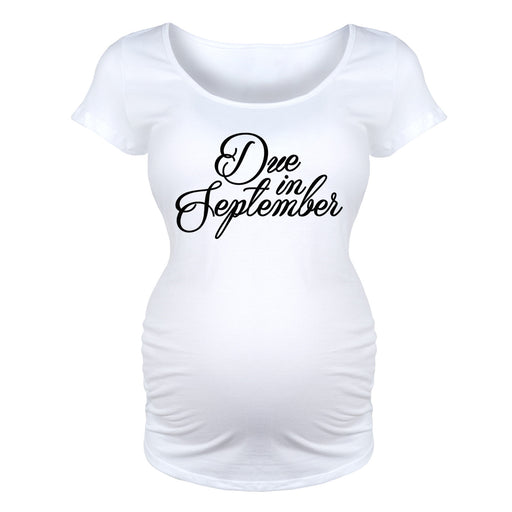 Due in September - Maternity Short Sleeve T-Shirt