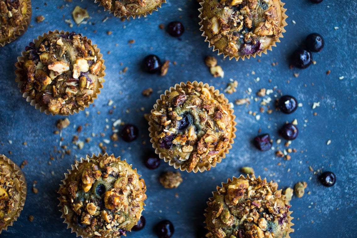 Crunchy Blueberry Maple Muffins