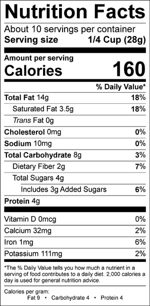 Nutritional label for Maple Pancake