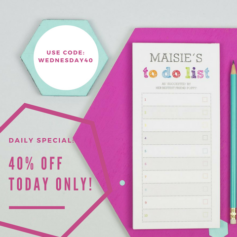 today s daily deal 40 off our colourful to do list notepad xoxo