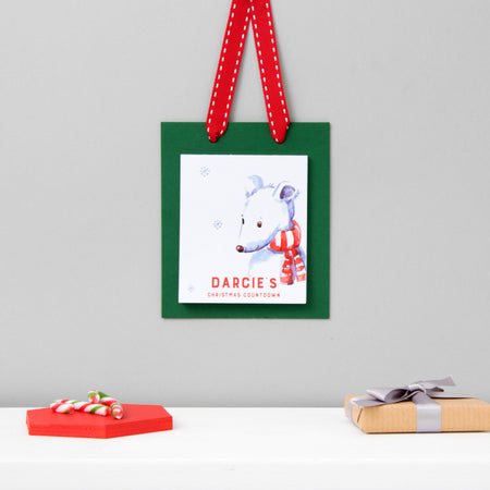 Personalised Christmas Countdown Advent Pad