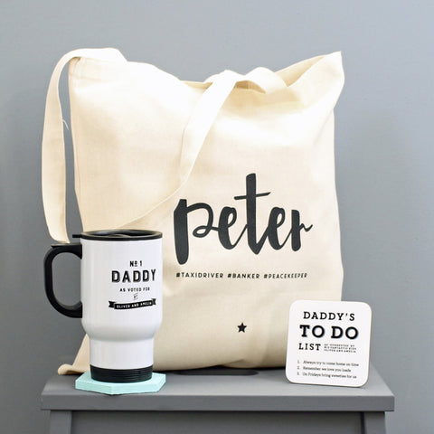 Personalised 'Commuting Dad' Father's Day Gift Set