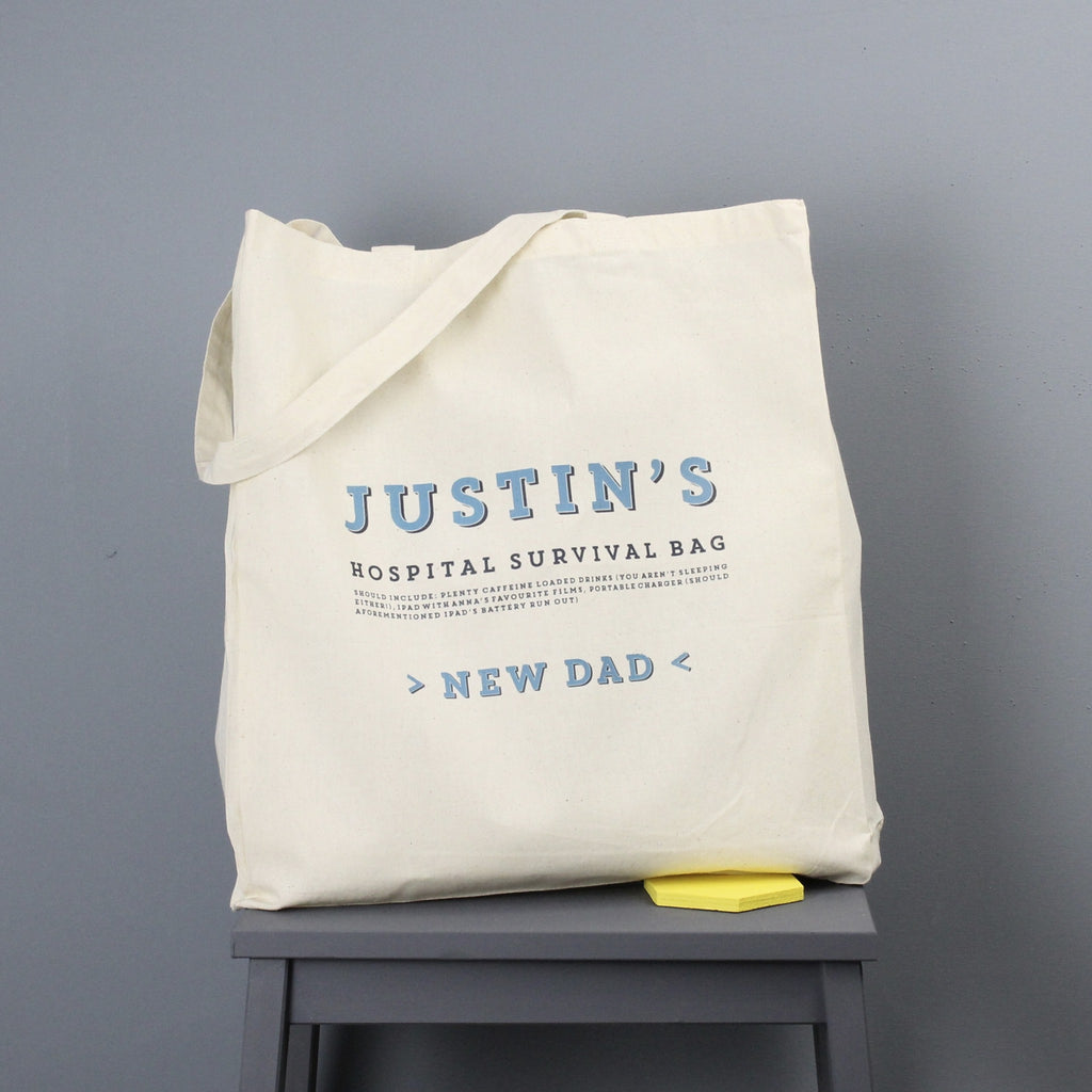 Personalised New Daddy Hospital Bag