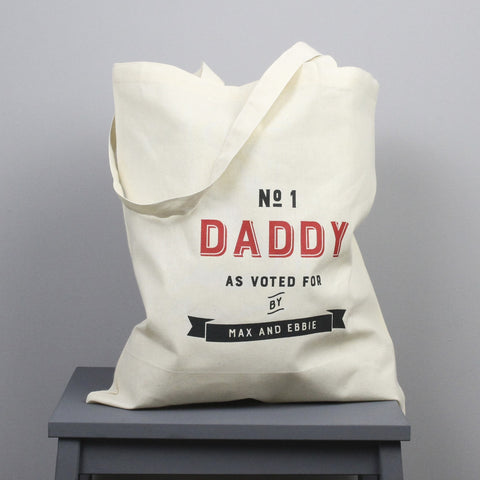 Personalised 'Number One Daddy' Tote Bag
