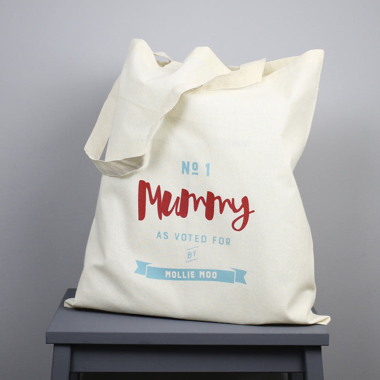 Personalised 'Number One Mummy' Tote Bag
