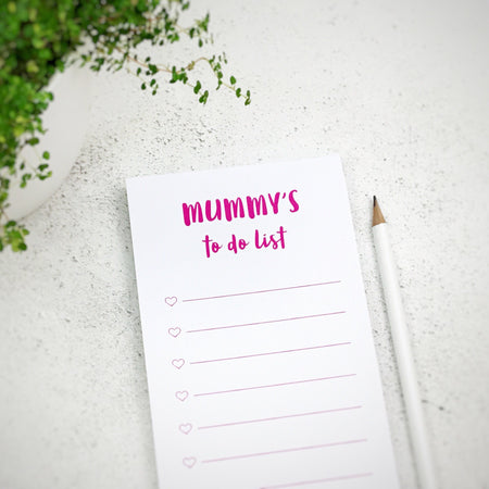 Personalised Mummy's To Do List Notepad