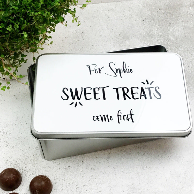 Sweet Treats Come First Tin