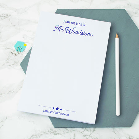 Personalised 'From the Desk Of ...' A5 Notepad